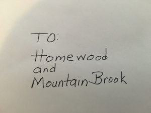 Letter to Homewood & Mountain Brook