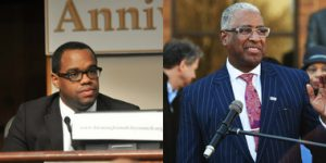 Jonathan Austin, President of the Birmingham City Council & Mayor William Bell