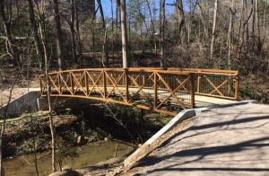 Bridge along Jemison Trail in Mountain Brook