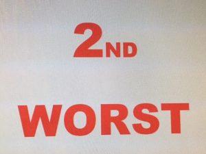 2nd Worst