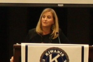 Nashville Mayor Megan Berry speaking to Kiwanis Club of Birmingham