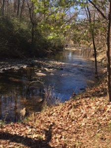 Shades Creek along Jemison Trail in Mountain Brook