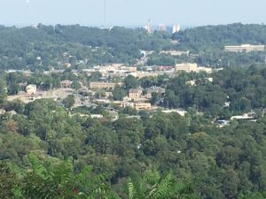 View of Homewood from the top of the Mountain in Vestavia Hills