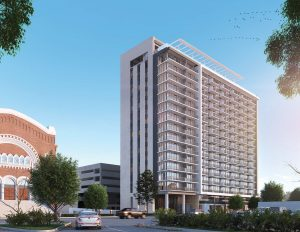 Vesta on Highland Avenue in Birmingham is a 17 story apartment complex with 318 units and a 500 space parking garage