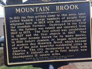 Mountain Brook sign