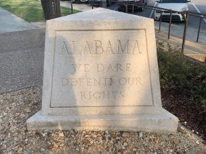 Alabama monument I-20 rest station near Georgia