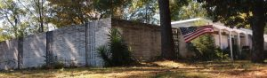 The Drew house, behind a protective wall, where Civil Rights activists Deenie and John Drew often hosted Martin Luther King Jr. Photograph by Jenifer L. Greer